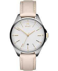 Women's Coronada-Malibu Fade Blanc Leather Strap Watch 36mm