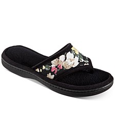 Women's Petunia Floral Thong Slippers With Memory Foam