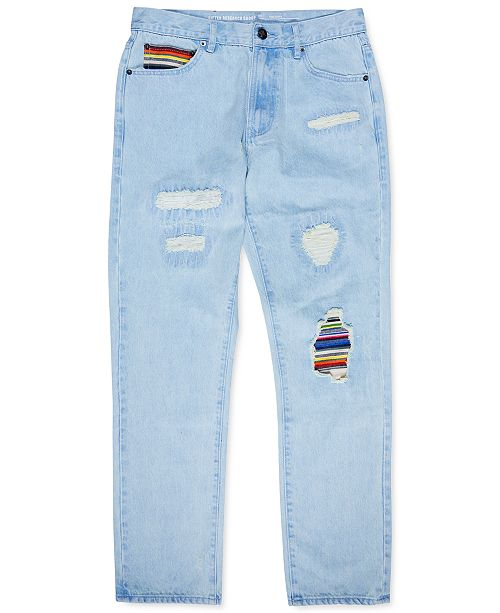 LRG Men's Classic-Fit Earth Lessons Patched Jeans