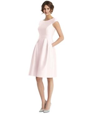 Boat-Neck A-Line Dress