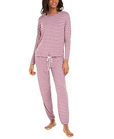 Tie-Hem Pajama Top & Jogger Pants, Created for Macy's