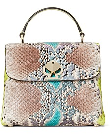 Romy Python-Embossed Mini Top-Handle Bag