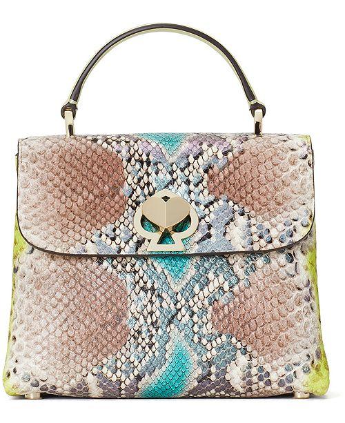 kate spade new york Romy Python-Embossed Mini Top-Handle Bag