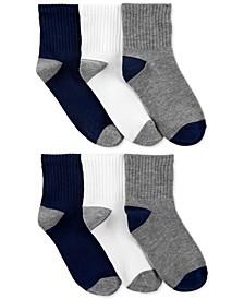 Little & Big Boys 6-Pk. Crew Socks