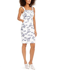 INC Printed Denim Dress, Created for Macy's