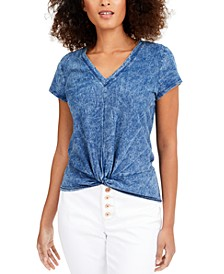 INC Cotton Twisted T-Shirt, Created for Macy's