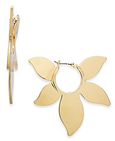 Gold-Tone Flower Hoop Earrings, Created for Macy's