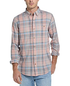 Men's Regular-Fit End-On-End Plaid Shirt