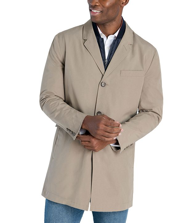 Michael Kors Men's Casa Slim-Fit Single Breasted Bib Raincoat