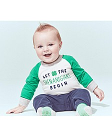 Baby Boys 2-Pc. Cotton Shenanigans Bodysuit & Pants Set