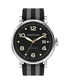 Men's Classic Collection Watch Gray 2 Colors Fabric Strap Watch 44Mm