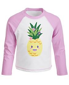 Toddler Girls Pineapple-Print Long-Sleeve Rash Guard