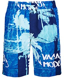 Big Boys Palm Graffiti Swim Trunks, Created for Macy's