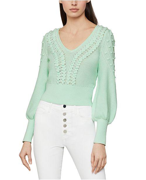 BCBGMAXAZRIA Bishop-Sleeve Sweater