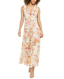Karl Lagerfeld Floral-Print Wrap Dress
