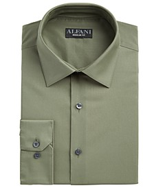 Men's Classic/Regular Fit Performance Stretch Solid Dress Shirt, Created for Macy's