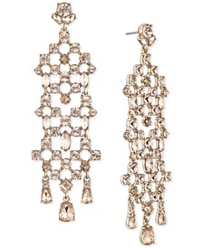 Gold-Tone Crystal Chandelier Earrings