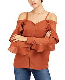 Off-The-Shoulder Ruffle-Trim Top, Created for Macy's