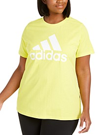 Women's Plus Size Cotton Badge of Sport Logo T-Shirt