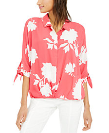 Alfani Roll-Front Blouse, Created for Macy's