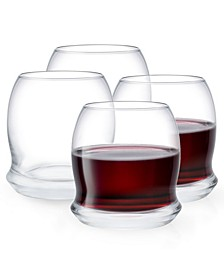 Cosmos Stemless Wine Glasses - Set of 4