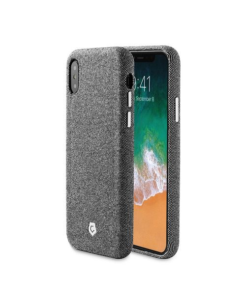 Cobble Pro Premium Soft Touch Fabric Back Case Cover for Apple iPhone XS, X
