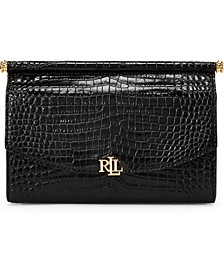 Croc-Embossed Leather Mini Prescott Clutch
