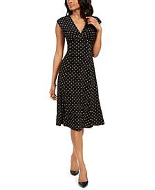 Polka-Dot A-Line Dress
