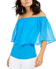 Thalia Sodi Triple Threat Off-The-Shoulder Top, Created for Macy's