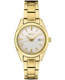 Women's Essentials Gold-Tone Stainless Steel Bracelet Watch 29.8mm