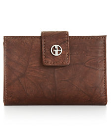 Giani Bernini Sandalwood Leather Index Wallet, Created for Macy's