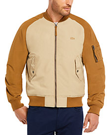 Lacoste Men's Regular Fit Lightweight Reversible Bomber Jacket