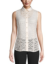 Lace Sleeveless Blouse