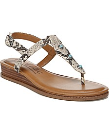 Giselle T-Strap Demi-Wedge Sandals