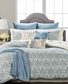 CLOSEOUT! Pucker Damask 14-Pc. Queen Comforter Set, Created for Macys