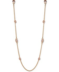 "Gold-Tone Stone 42"" Strand Necklace"