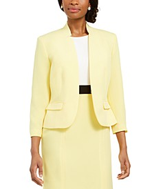 Crepe Cut-Out Collar Jacket