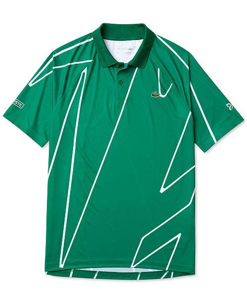 Lacoste Men S Novak Djokovic Ultra Dry Polo Shirt Reviews Polos Men Macy S