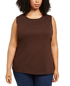 Plus Size Cotton Tunic Tank Top, Created for Macy's