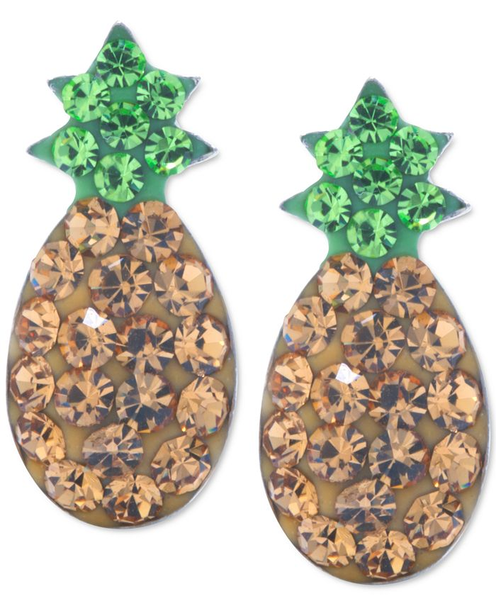 Giani Bernini - Crystal Pineapple Stud Earrings in Sterling Silver