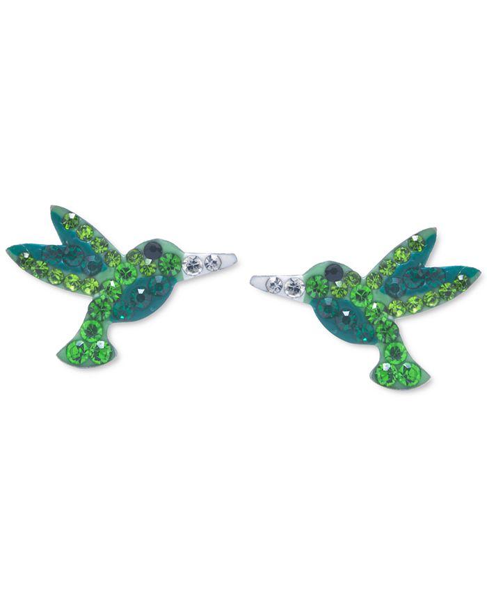 Giani Bernini - Crystal Hummingbird Stud Earrings in Sterling Silver