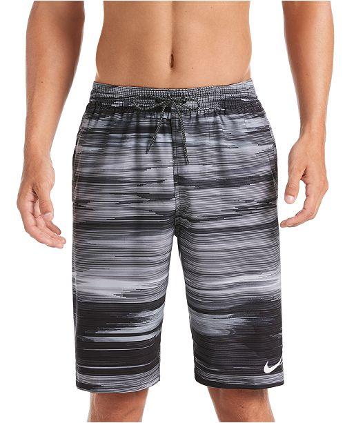 "Nike Men's Big & Tall Vital Sky Stripe 11"" Swim Trunks"