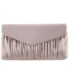 Salome Satin Pleated Clutch