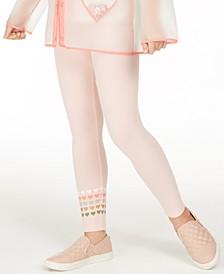Big Girls Heart-Border Leggings, Created for Macy's