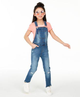 Big Girls Denim Overalls, Created for Macy's