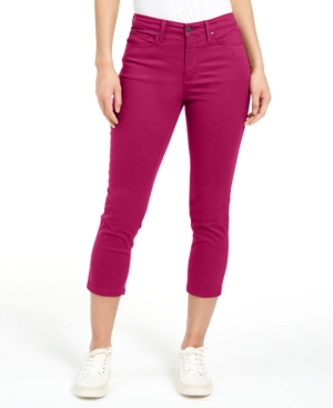 Charter Club Jeans PETITE TUMMY-CONTROL BRISTOL CAPRI JEANS, CREATED FOR MACY'S