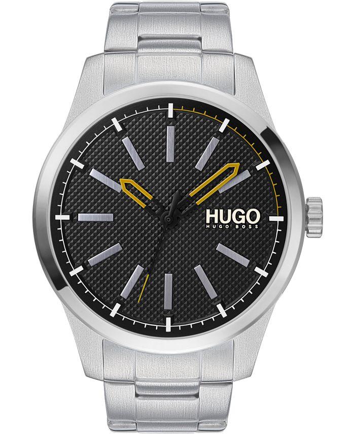 HUGO - Men's #Invent Stainless Steel Bracelet Watch 46mm