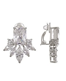 Cubic Zirconia Cluster Clip Earring