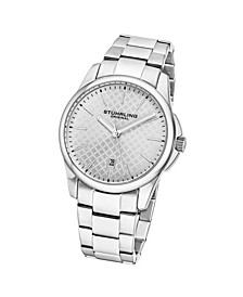 Men's Silver Tone Stainless Steel Bracelet Watch 42mm