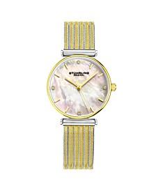 Women's Gold - Silver Tone Mesh Stainless Steel Bracelet Watch 32mm